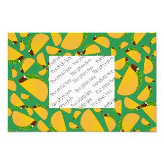 Green tacos photo print