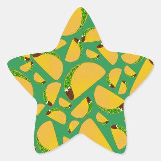 Green tacos star sticker