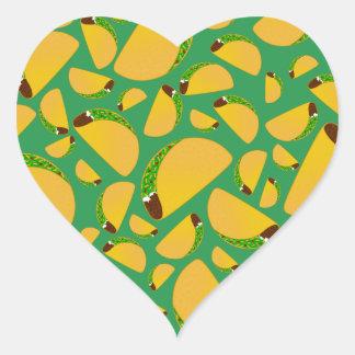 Green tacos heart sticker