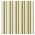 [ Thumbnail: Green, Tan, and White Colored Stripes Fabric ]