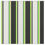 [ Thumbnail: Green, Tan, Black, White & Dark Slate Gray Colored Fabric ]