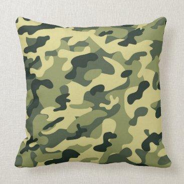 Green tan Camo Pillow