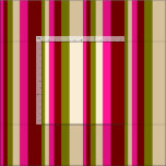 [ Thumbnail: Green, Tan, Deep Pink, and Maroon Lines Fabric ]