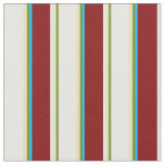 [ Thumbnail: Green, Tan, White, Maroon, and Deep Sky Blue Fabric ]