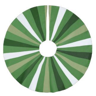 GREEN TAN WHITE STRIPED STAR BURST TREE SKIRT