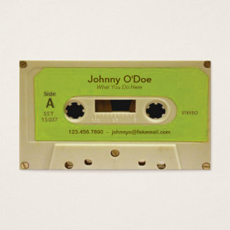 Green Tape Business Card