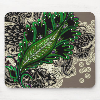 Green Tapestry Mouse Mats