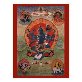Green Tara Deity Postcard