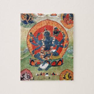 Green Tara Goddess Jigsaw Puzzles