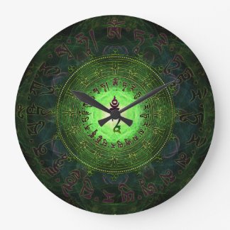 Green Tara - Protection from dangers and suffering Large Clock