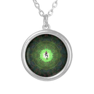 Green Tara - Protection from dangers and suffering Silver Plated Necklace