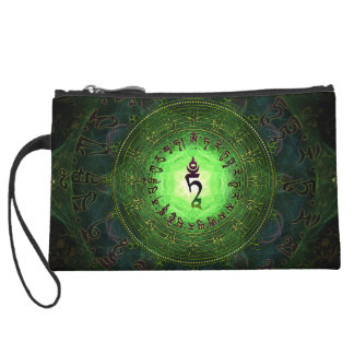 Green Tara - Protection from dangers and suffering Wristlet Wallet
