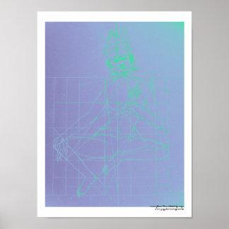Green Tara Sketch Poster