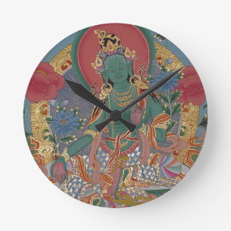 Green Tara Wall Clock