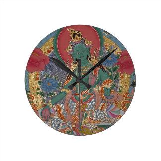 Green Tara Wall Clock