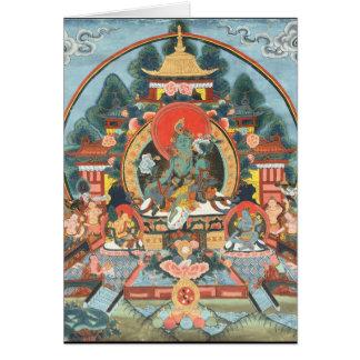 Green Tara with Om Mani Padme Hum Card