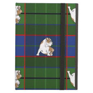 Green Tartan Bulldog Cover For iPad Air