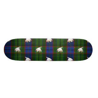 Green Tartan Bulldog Skateboard Deck