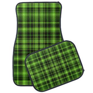 Green Tartan Car Mat