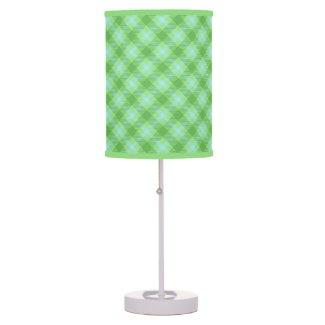 Green Tartan Lamp