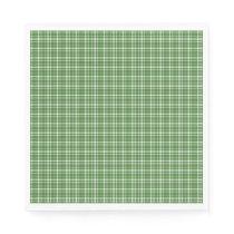 Green Tartan Pattern Paper Napkin
