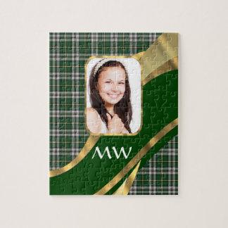 Green tartan photo background puzzle