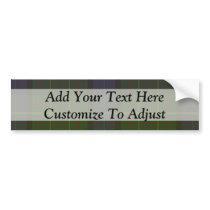 Green tartan plaid bumper sticker