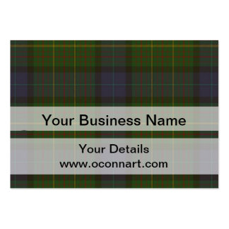 Green tartan plaid business card template