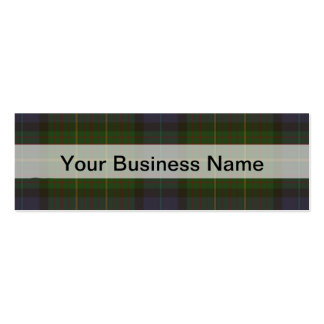 Green tartan plaid business card