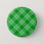 Green Tartan Plaid Button