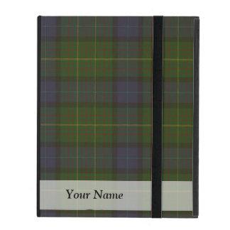 Green tartan plaid iPad folio cases