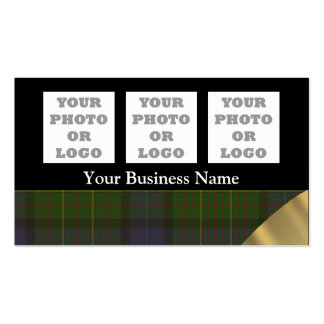 Green tartan plaid pattern company logo business card templates