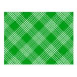 Green Tartan Plaid Postcard