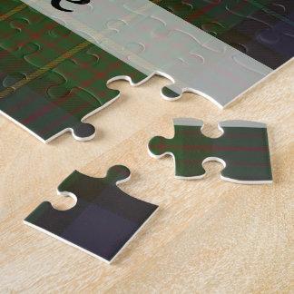 Green tartan plaid puzzle