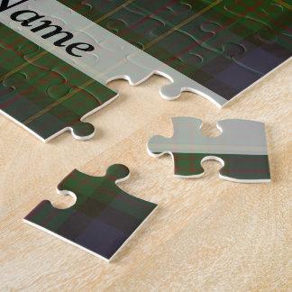 Green tartan plaid jigsaw puzzle