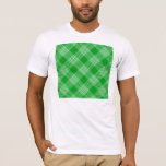 Green Tartan Plaid T-Shirt