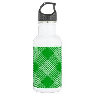 Green Tartan Plaid Water Bottle