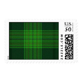 Green Tartan Postage Stamp