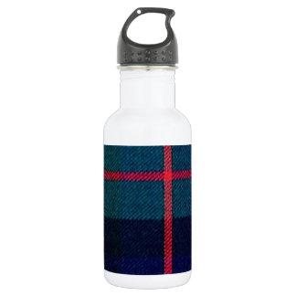 Green tartan water bottle