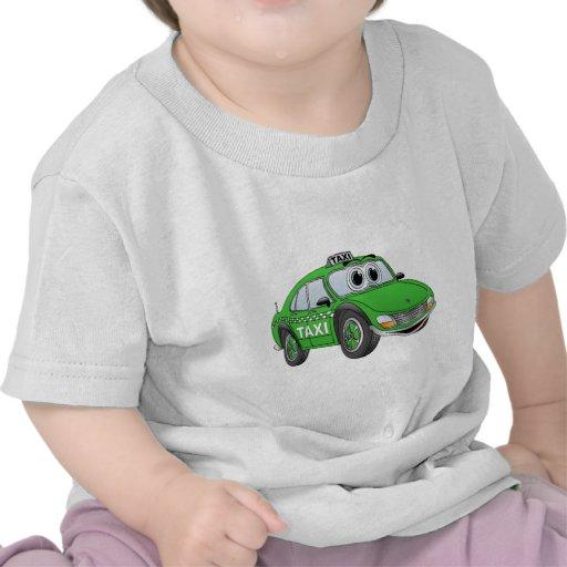 Green Taxi Cab Cartoon Shirts