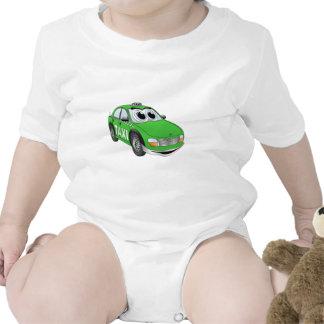 Green Taxi Cab Cartoon Rompers