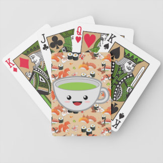 Green Tea and Sushi Bicycle Playing Cards