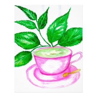 Green Tea Art2 Letterhead