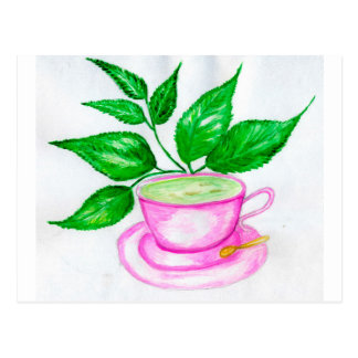 Green Tea Art2 Postcard