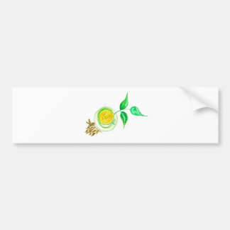 Green Tea Art Bumper Sticker