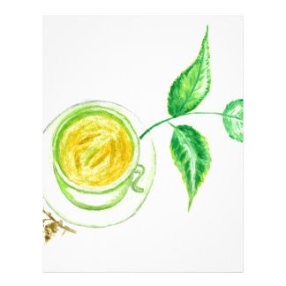 Green Tea Art Letterhead