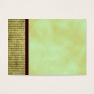 Green Tea Blank Craft Tag Card