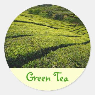 Green Tea Classic Round Sticker