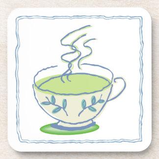 Green Tea Cork Coasters Set
