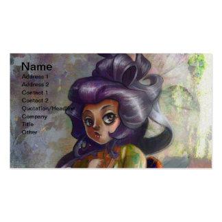 Green Tea Geisha Business Card Business Card Template